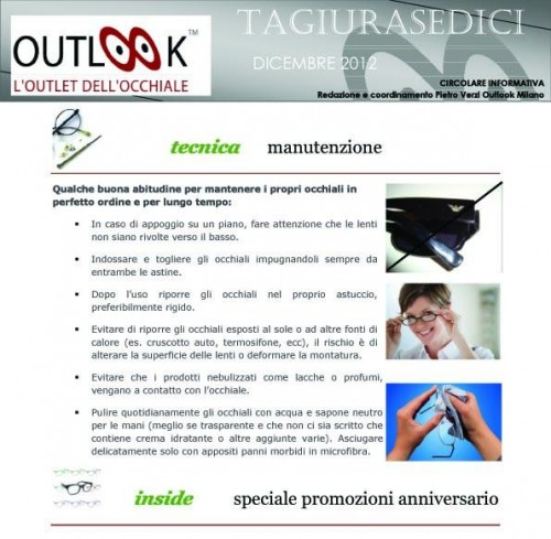 da tagiurasedici dic - gen 2013 pag. 2 - OUTLOOK - Outlet dell'Occhiale